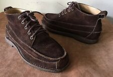 LL Bean Men's Brown Suede Chukka/Ankle Boots 9 D Crepe Sole Style 281087