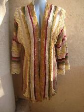 Lietta Cavalli Mali Vtg BOHO 1-Of-a-Kind Multi-Yarns  Sweater Coat S/M