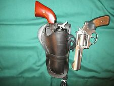 "Leather Holster for Ruger 375 SP101 4"" + ANY 22 SA Revolver 4.75"" Barrel"
