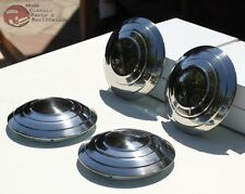 1932 Ford Passenger Car Pickup Truck Smooth Plain Stainless Hub Cabs 4 Hot Rod