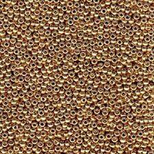 22 Gram CHAMPAGNE  4202 Miyuki Round Rocailles 8/0 Seed Bead Duracoat Galvanized