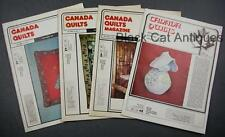 Lot of Four Canada Quilts Magazines 1982 Issues 43 To 46 Vol. XI No. 2, 3, 4, 5