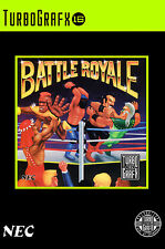 Battle Royale Turbo Grafx 16 Framed Print (Man Cave Picture Game Gaming Art)