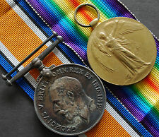BRITISH WW1 WAR & VICTORY MEDAL 1914-1918 SMITH DLI