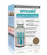 Emuaid Overnight AcneTreatment Antibacterial Antiseptic Natural Ingredients 1 oz