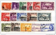 Sierra Leone KGVI 1937/46 Collection of 16 to 2/- Fine Used X2288