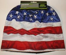 HD Sublimation USA Patriotic American Flag Stocking Hat Cap Beanie Fleece Lined