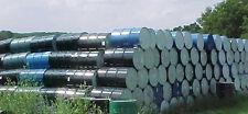 Lot 200 steel sealed closed top metal 55 gallon food grade barrels barrel drums