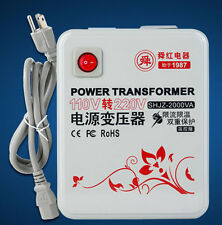 110v/120v to 220v/240v 2000W step-up transformer Voltage Converter Transformer