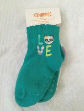 NWT Gymboree 12-24 months socks shoe size 5-6 two pack love panda lion NEW