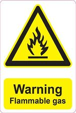 [ 205x290mm ] WARNING - Flammable Gas | health and safety | signs/stickers