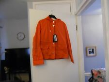 Armani Jeans Women's Rosso-Red Hooded Blouson In Technical Fabric Size 44 & US 8