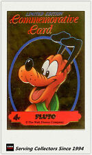 1992 Australia Dynamic Disney Classics Commemorative Gold Card G4 Pluto