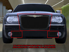 Fits 2005-2010 Chrysler 300/300C Black Stainless Steel Mesh Grille Combo Insert