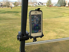 iPhone Golf Cart Mount. Works with iPhone 6 and most smart phones.