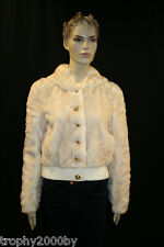 NEW JUICY COUTURE $358 FAUX FUR BOMBER JACKET WITH HOOD SZ L LARGE