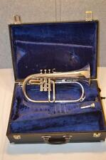 BESSON STANDARD FLUGELHORN MADE IN ENGLAND WITH CASE & MOUTHPIECE - FREE SHIP