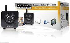 KONIG ENHANCED INDOOR IP CAMERA SEC-IPCAM100B - WATCH & LISTEN ANY TIME OR PLACE