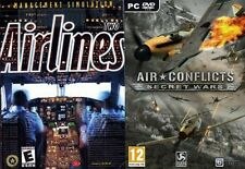 Airlines deux management simulation & air conflicts secret wars new & sealed