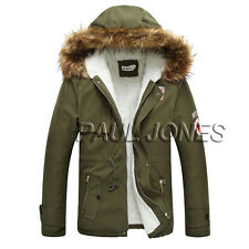 Plus Herrenm Sweatjacke Herrenjacke Parka Mäntel Winterjacke Warmfutter Outwear