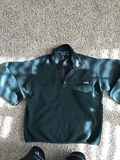 Mens Large Green Synchilla Patagonia Pullover