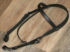 Biothane Beta Leather Black Endurance Browband Headstall Bridle By Jays USA Made