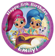 Shimmer And Shine Personalised Cake Topper Edible Wafer Paper 7.5""