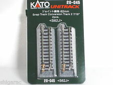 Kato n gauge Unitrack Snap Track Conversion Track 62mm  20-045