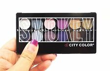 City Color SMOKEY Shadow Palette- 12 Pigmented Shades *US SELLER*