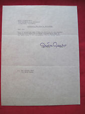 ORIGINAL TYPED LETTER SIGNED BY GRETA GARBO MENTIONING HER FILM CAMILLE
