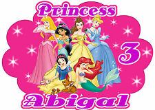 Disney Princess Birthday Party t Shirt Iron On Transfer Personalized Decal