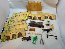 Vtg 60s LOUIS MARX Sears Davey Crockett at THE ALAMO Playset Parts Pcs & Figures