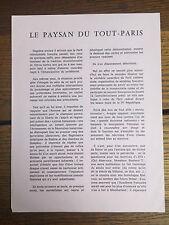 [SURREALISME] Le Paysan de Tout-Paris. Paris, 15 décembre 1967.