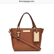 Kurt Geiger Carvela Brown/Tan 'Micro Din' Bag Shoulder Structured Cross Body