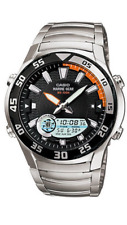 Casio  AMW-710D   Stainless  Steel  ALL 100M  Men's  Marine  Gear  Watch  AMW710