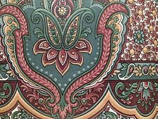 "VTG Paisley Wallpaper Border 6 7/8"" X 5 Yards Pretty Paisley 6 Rolls + Part Roll"