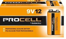 DURACELL PROCELL 9V 9 VOLT ALKALINE BATTERIES TWELVE (12) PER BOX EXPIRES 2020!!