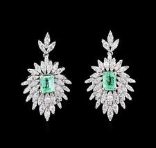1.97 ctw Emerald and Diamond Earrings - 14KT White Gold Lot 386