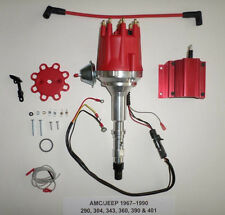 small cap AMC JEEP 67-90 290,304,343,360,390,401 Red HEI Distributor & 50K COIL