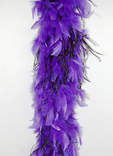 CHANDELLE FEATHER BOA - PURPLE w/ BLACK OSTRICH 2 Yards 80 Gram Costumes/Dress