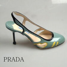 PRADA DAMEN BUSINESS SCHUHE DONNA DECOLTE PUMPS NEW ORIGINAL GR: 38