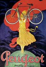 Art Deco - Peugeot Bicycle Cycle Bike Advert - A3 Art Poster Print