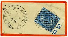 ITALIA - Regno - 1879 - Da Brignano Gera d'Adda/Bg -  10 c. azzurro - V. E. II