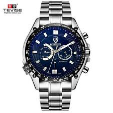 Tevise Stainless Steel Band Automatic Mechanical Men Date Luminous Watch R3E7