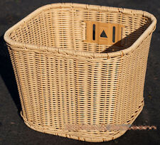 Fito Mid-Size Light Brown Wicker Mounting Basket for Beach Cruiser Bikes