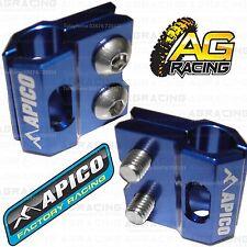 Apico Blue Brake Hose Brake Line Clamp For Yamaha YZ 125 2011 11 Motocross