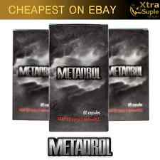 3x METADROL - 180 CAPSULES REVOLUTION IN BUILDING MUSCLE ! POWER ENERGY