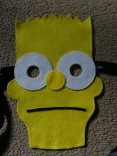 Bart Simpson Mask - Felt Handmade NEW