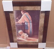 Framed Picture DESTINY 26x17 Boy Jesus Toddler Joseph Carpenter Shop Hobby Lobby