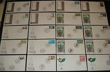 UNITED NATIONS 20 DIFF. 1991-1992 N.Y., GENEVA, VIENNA, SETS ,SINGLES FDC'S #2